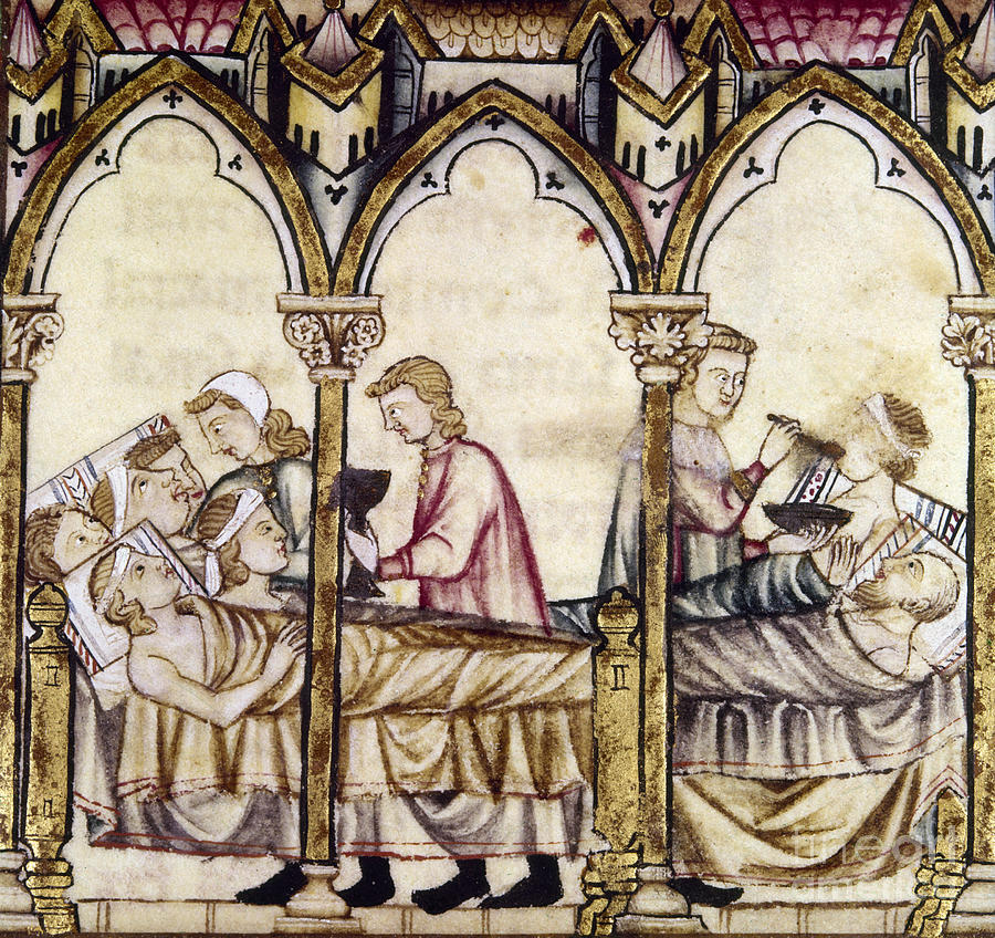 13th Century Photograph - Spain: Medieval Hospital by Granger