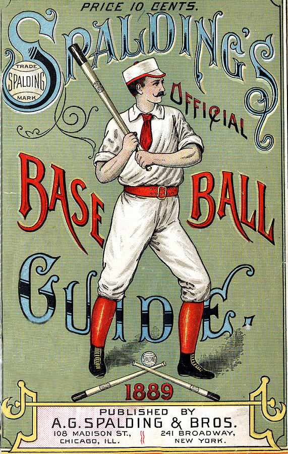 Spalding Baseball Ad 1189 Digital Art