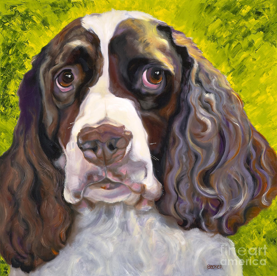 Spaniel The Eyes Have It Painting