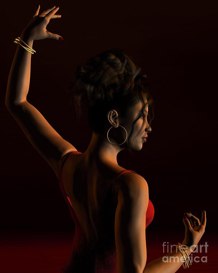 Spanish Flamenco Dancer - 1 Digital Art