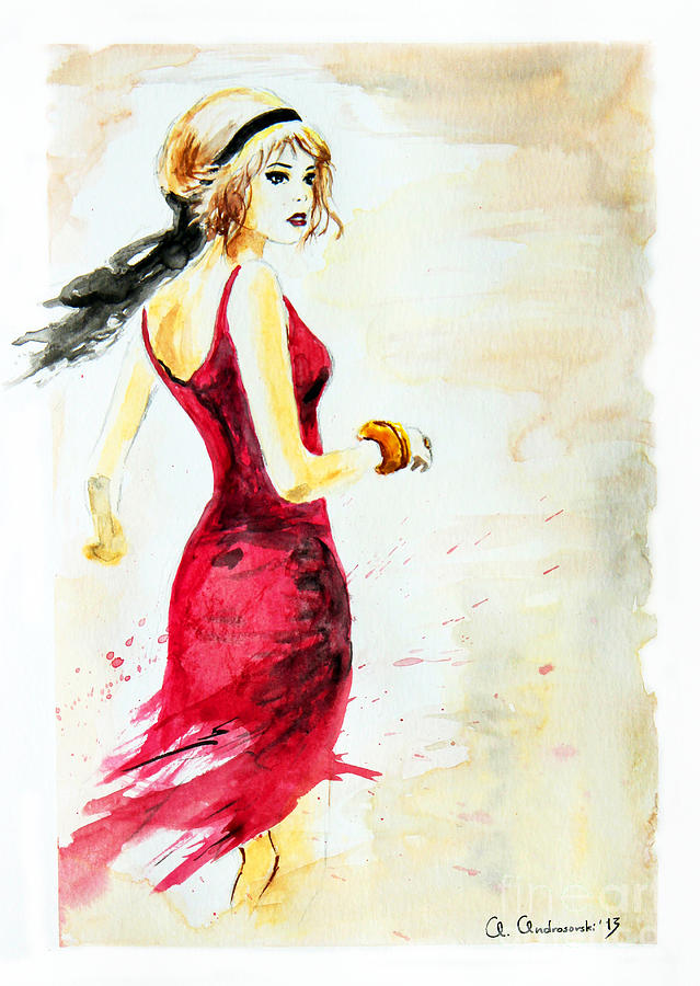 Spanish Girl Painting  - Spanish Girl Fine Art Print
