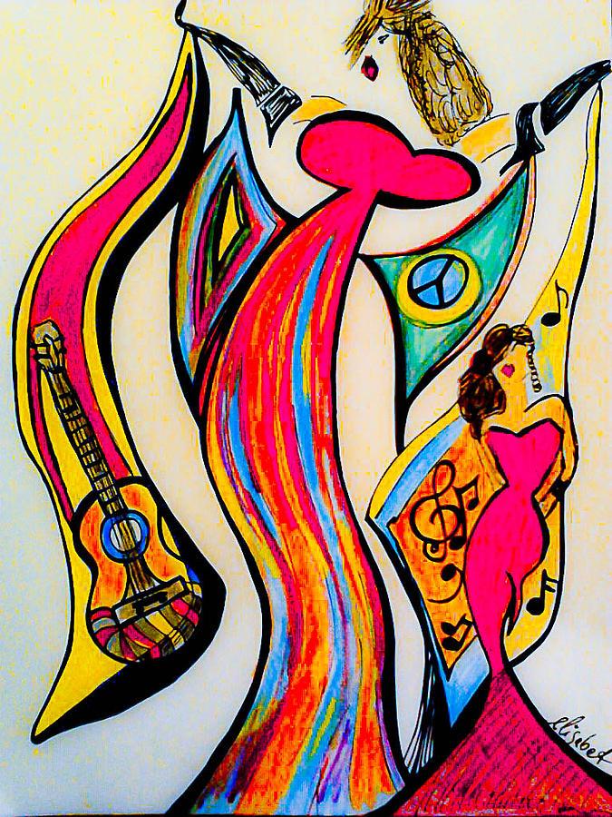 drawing #draw #tagsforlikes #fineart #mixedmedia #spain #woman #guitar ...