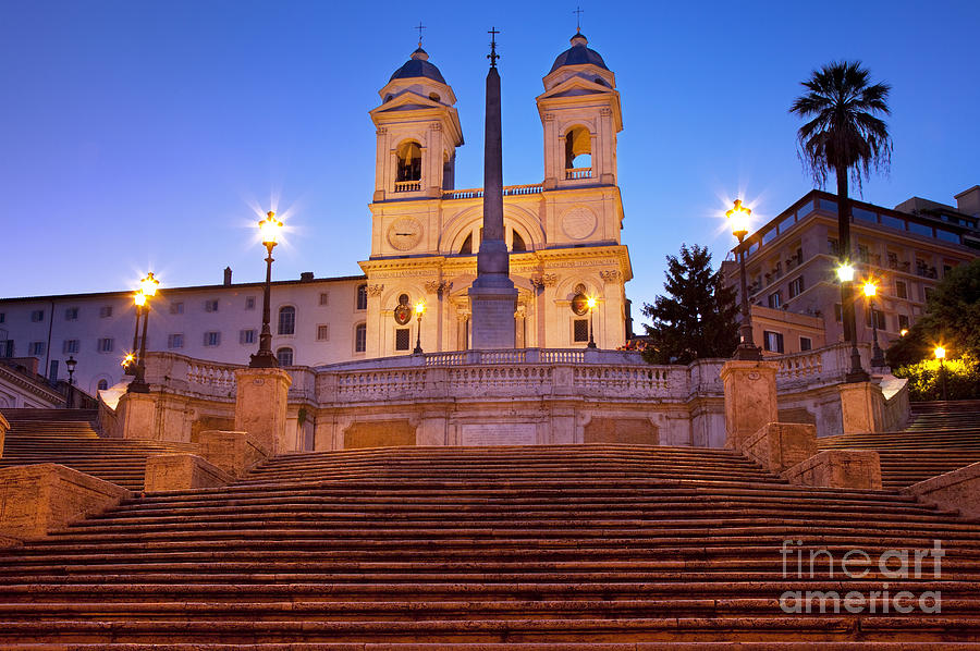 Spanish Steps Dawn Photograph