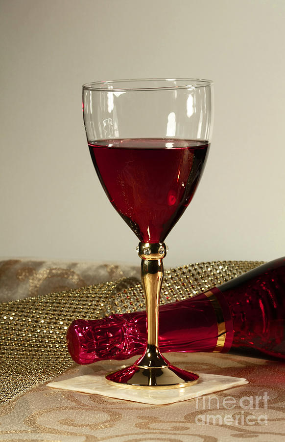 Sparkling Wine For One Photograph
