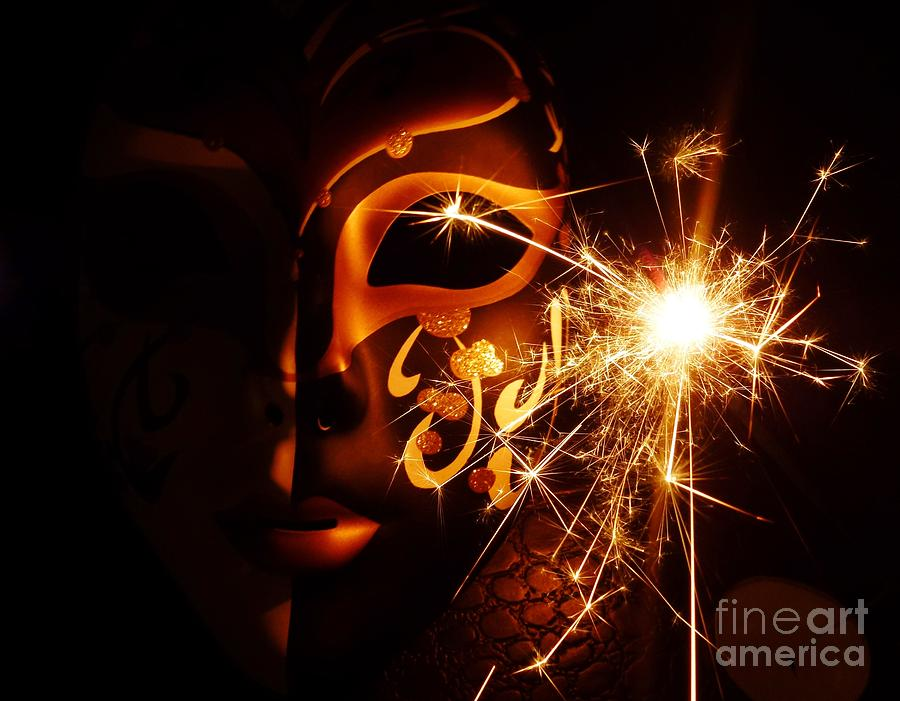 Sparklings Of Venetian Mask Photograph  - Sparklings Of Venetian Mask Fine Art Print