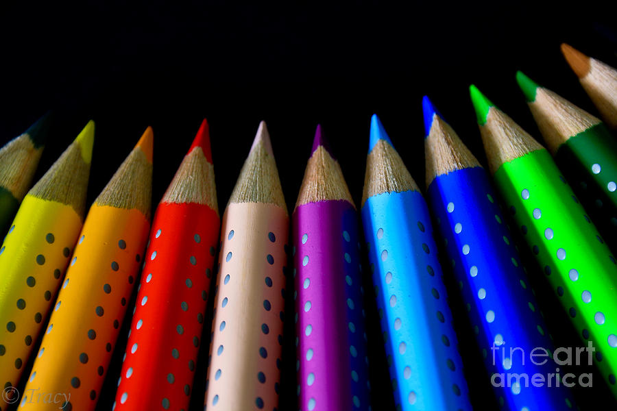 Pencils Photograph - Spectrum Color by Tracy  Hall