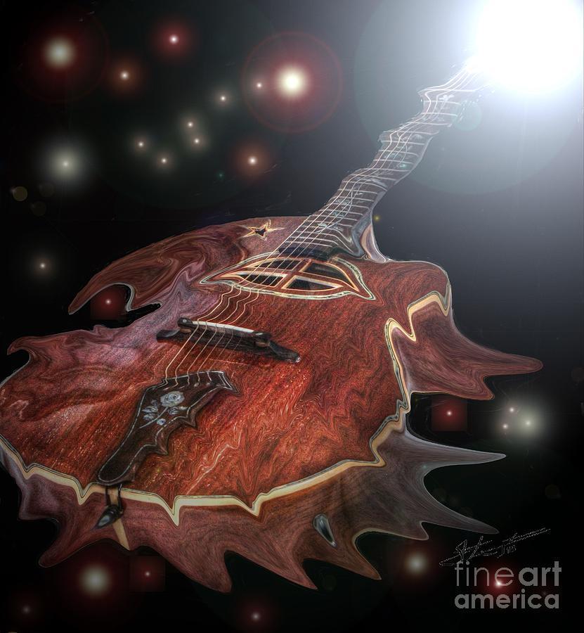 Acoustic Photograph - Speed Of Sound Digital Guitar Art By Steven Langston by Steven Lebron Langston