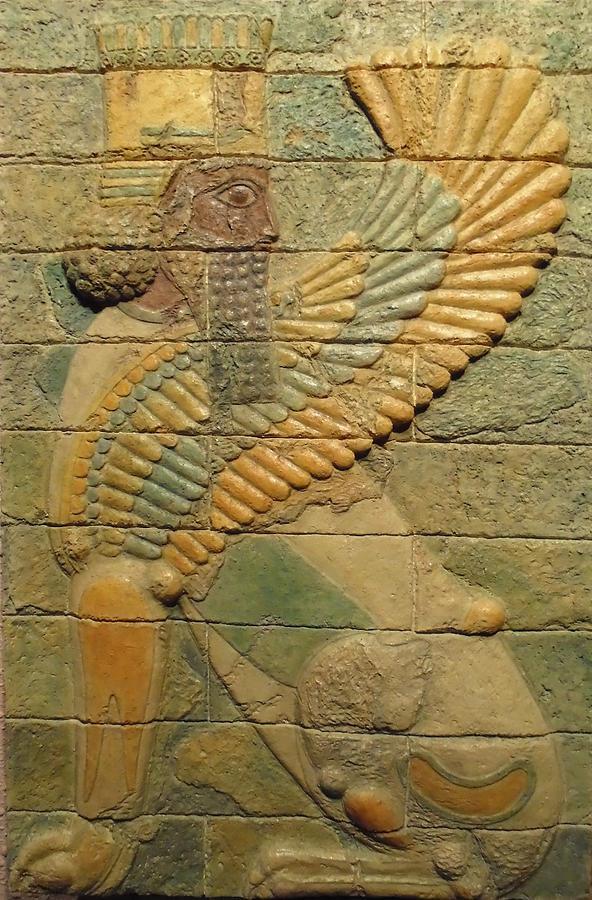 Ancient Reliefs Sculpture - Sphinx I. by Jose Manuel Solares