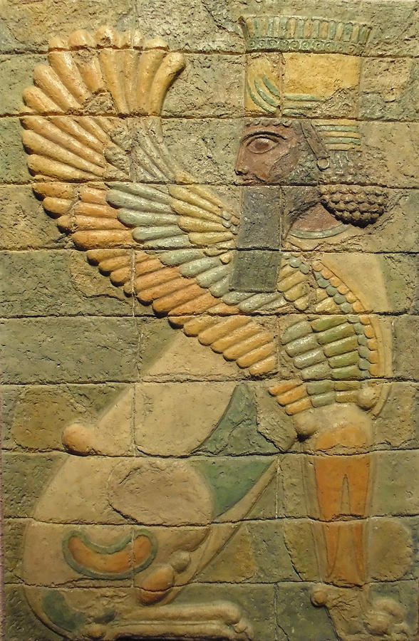 Ancient Reliefs Sculpture - Sphinx II. by Jose Manuel Solares