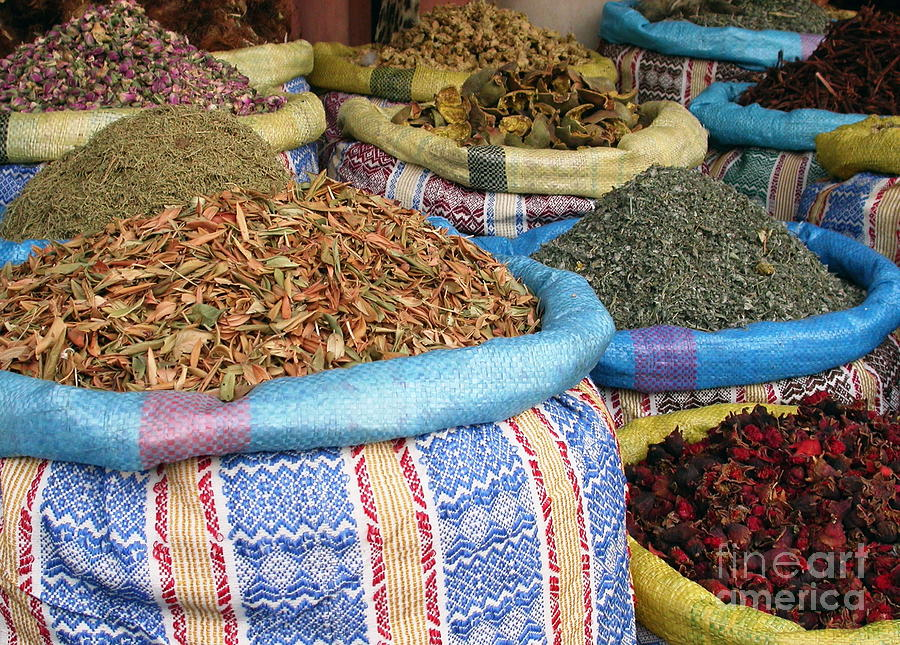 Spices At The Souk Photograph  - Spices At The Souk Fine Art Print