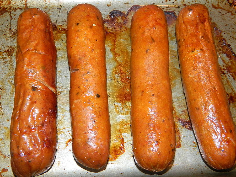 Spicy Andouille Sausage Photograph