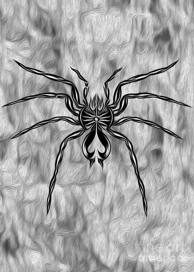 Spider Tatoo Painting  - Spider Tatoo Fine Art Print
