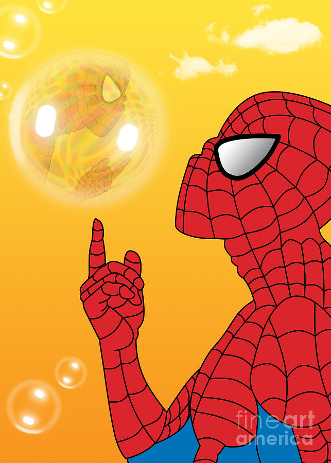 Spiderman 3 Digital Art  - Spiderman 3 Fine Art Print