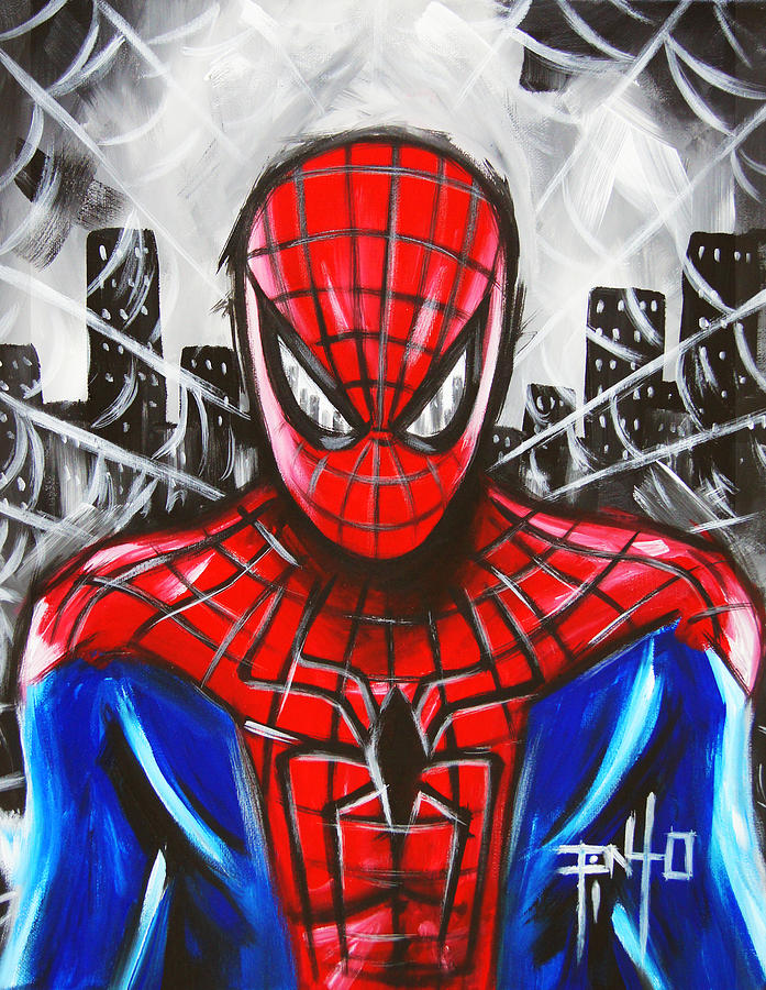 Spiderman Acrylic Painting