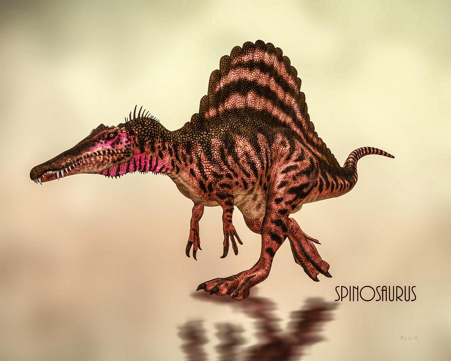 Spinosaurus Dinosaur Digital Art