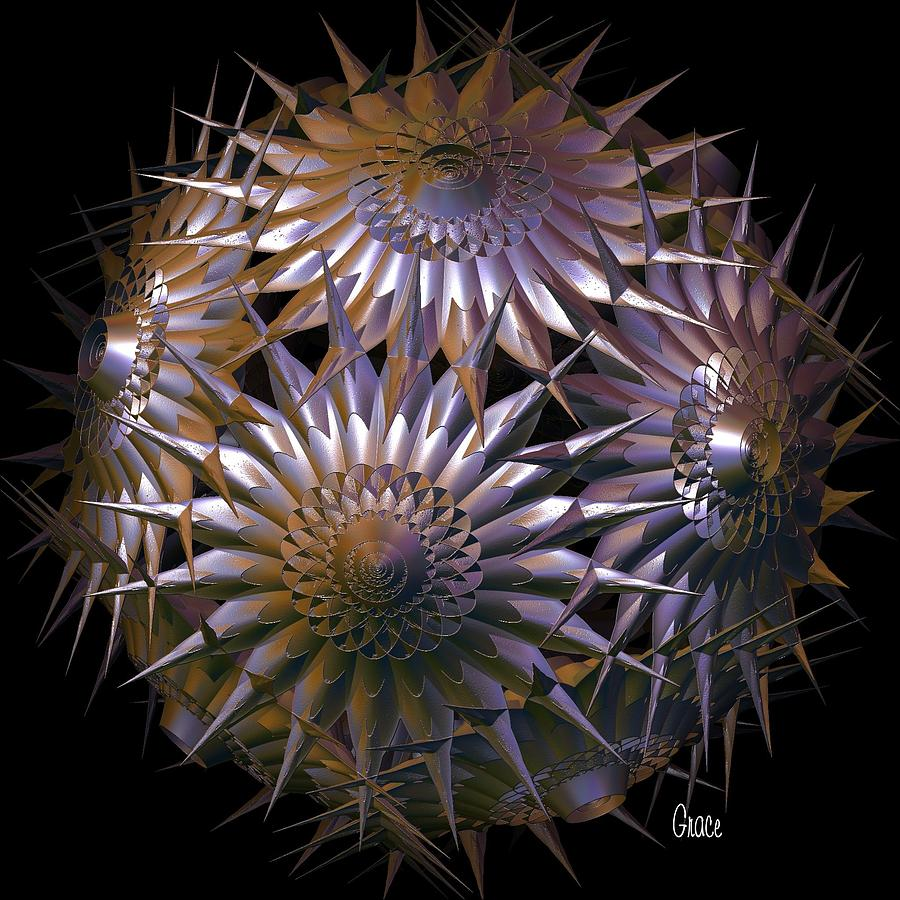 Spiny Beauty Digital Art  - Spiny Beauty Fine Art Print