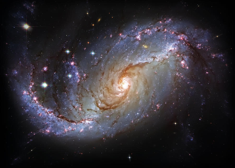 Universe Photograph - Spiral Galaxy Ngc 1672 by Jennifer Rondinelli Reilly - Fine Art Photography