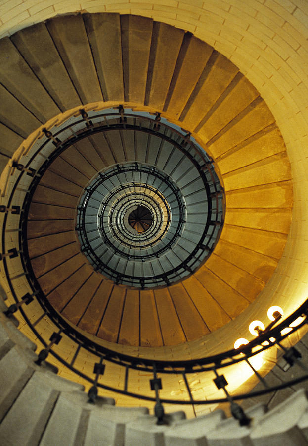 Spiral Staircase In Lighthouse France Photograph
