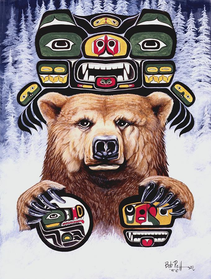 Spirit Bear Painting by Bob Patterson