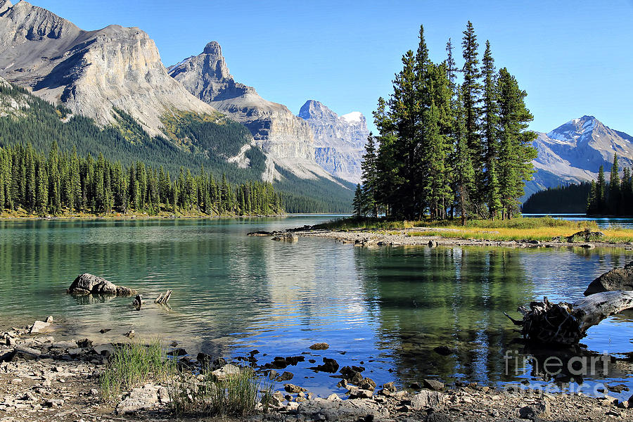 Spirit Island Maligne Lake Photograph