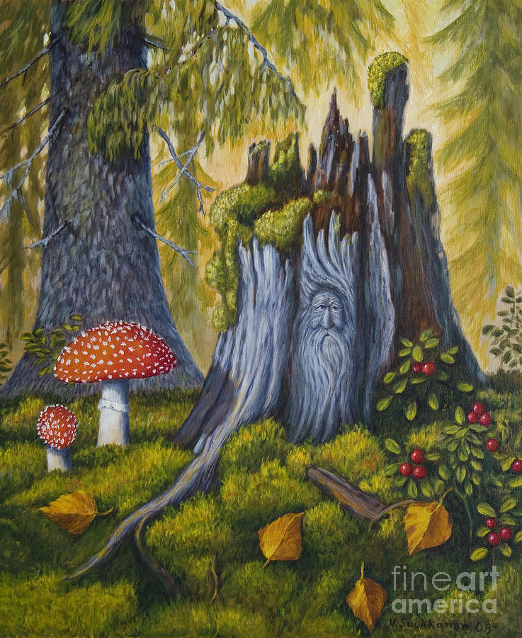 Art Painting - Spirit Of The Forest by Veikko Suikkanen