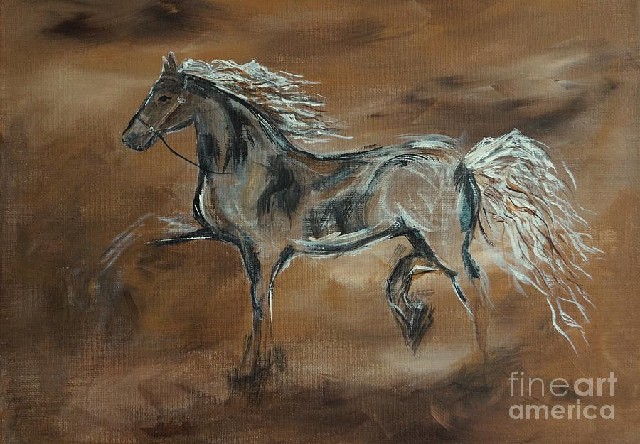 Horse Painting - Spirited by Leslie Allen