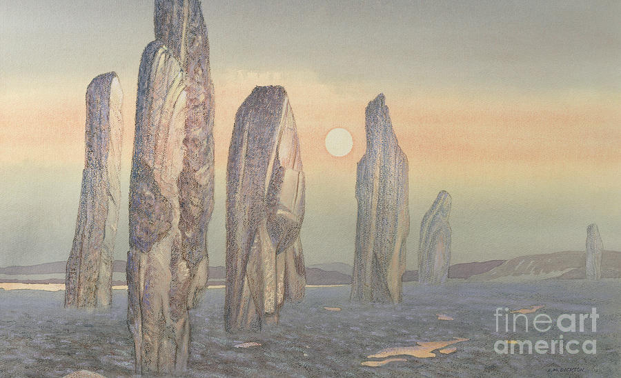 Spirits Of Callanish Isle Of Lewis Painting