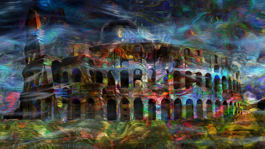 Colosseum Painting - Spirits Of The Coliseum by Jack Zulli