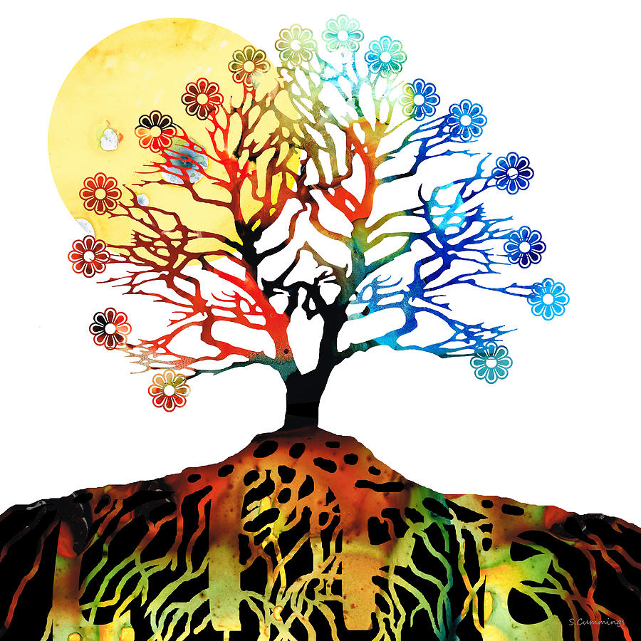 Spiritual Art - Tree Of Life Painting