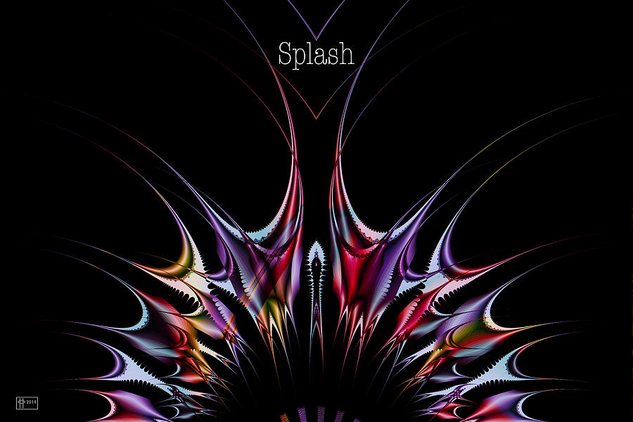 Splash Poster Digital Art