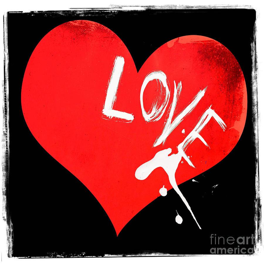 Splashes Of Love Mixed Media