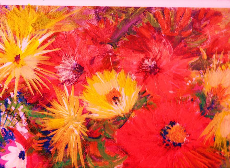 Splashy Floral Painting