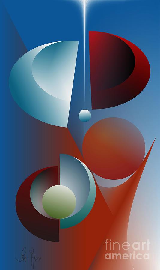 Split Cycle Digital Art