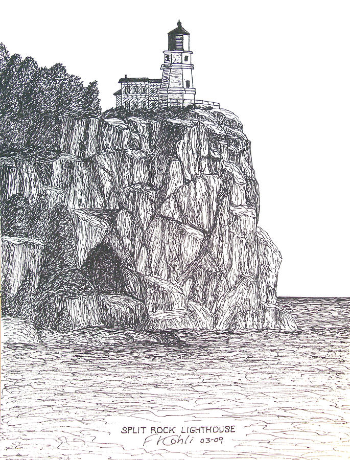 Split Rock Light Drawing
