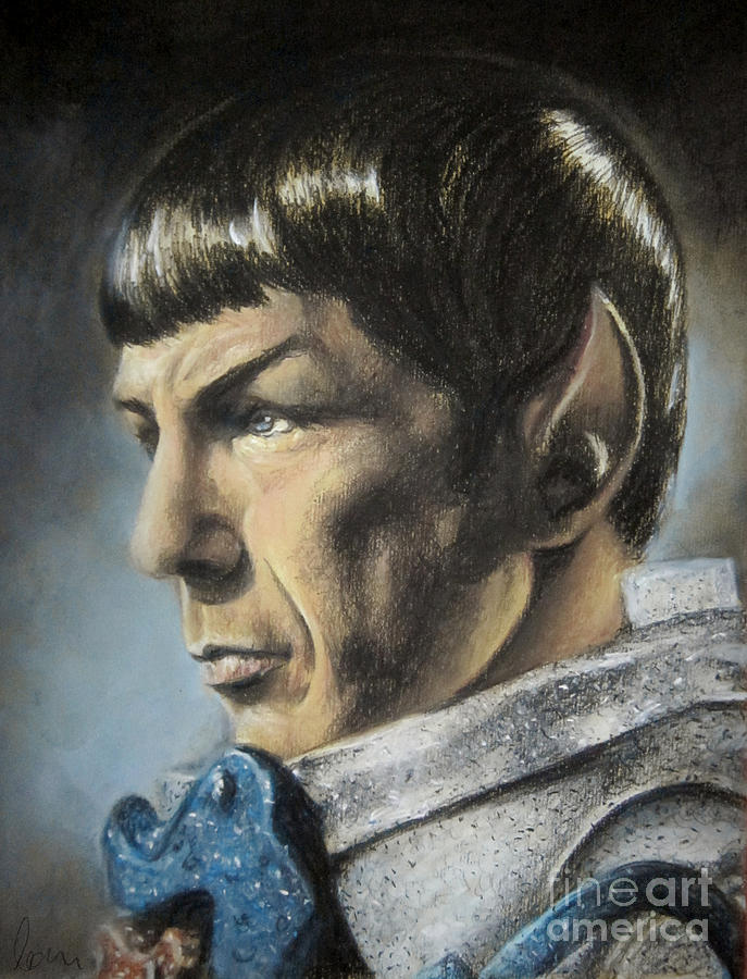 Spock Pastel - Spock - The Pain Of Loss by Liz Molnar