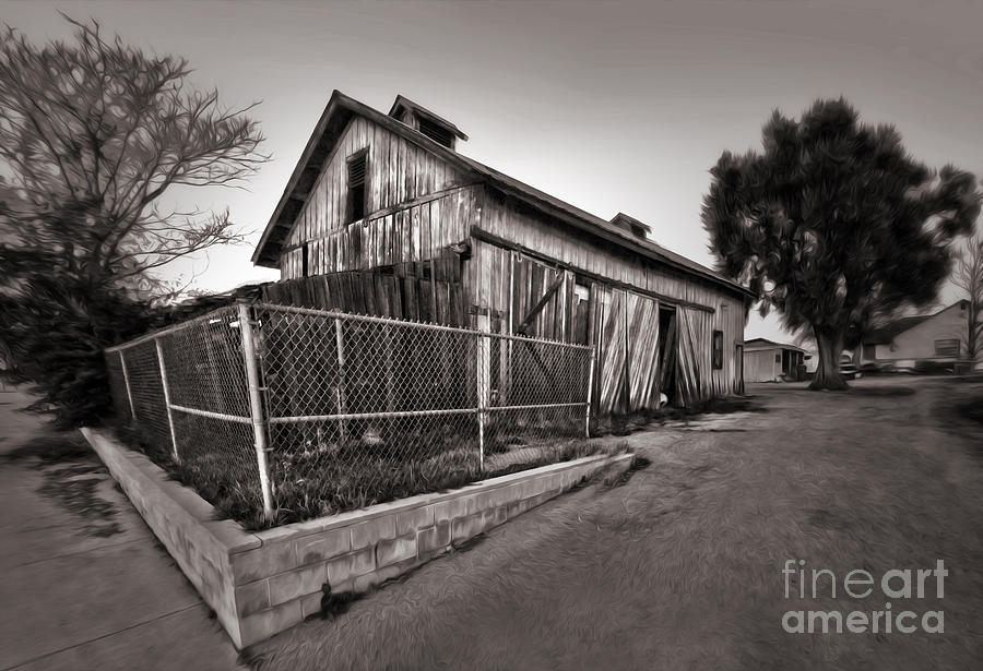Spooky Photograph - Spooky Chino Barn - 01 by Gregory Dyer