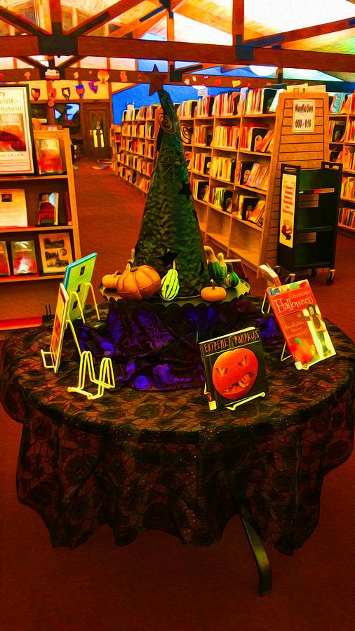 Spooky Library Decor Photograph by Ron Fleishman ~ 114026_Halloween Decorating Ideas Library