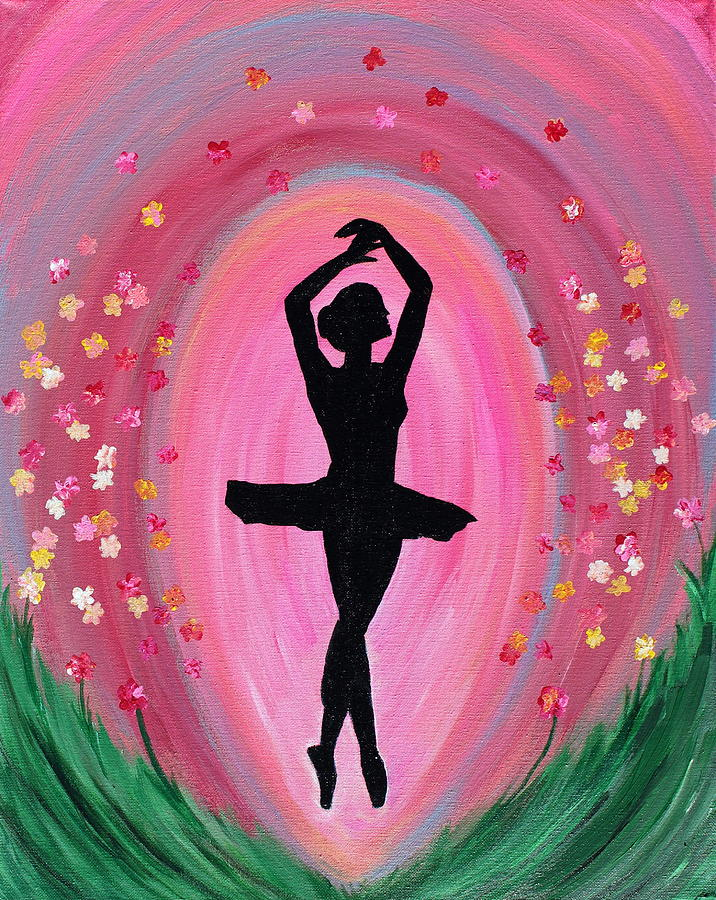 Spring Ballet Dancer Painting