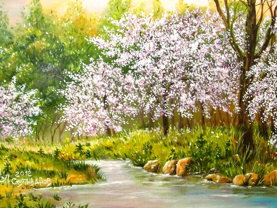 Spring Painting - Spring Blooming by Sergey Selivanov