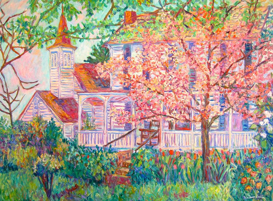 Spring Church Scene Painting