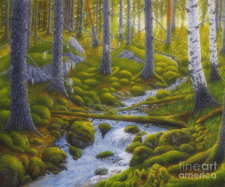 Art Painting - Spring Creek by Veikko Suikkanen