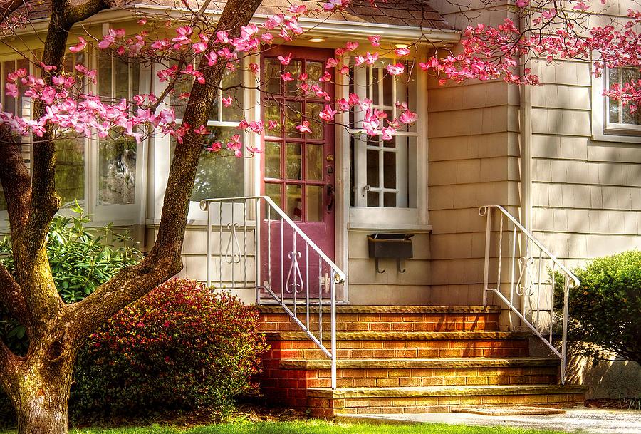 Savad Photograph - Spring - Door - Dogwood  by Mike Savad