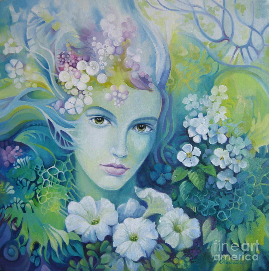 Spring painting by elena oleniuc for Spring canvas paintings