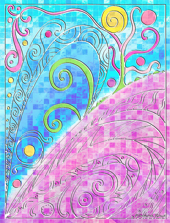 Spring Drawing - Spring Equinox by Shawna Rowe