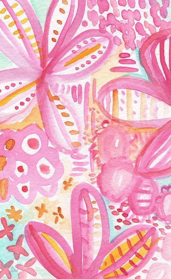 Flowers Painting - Spring Flowers- Watercolor Painting by Linda Woods