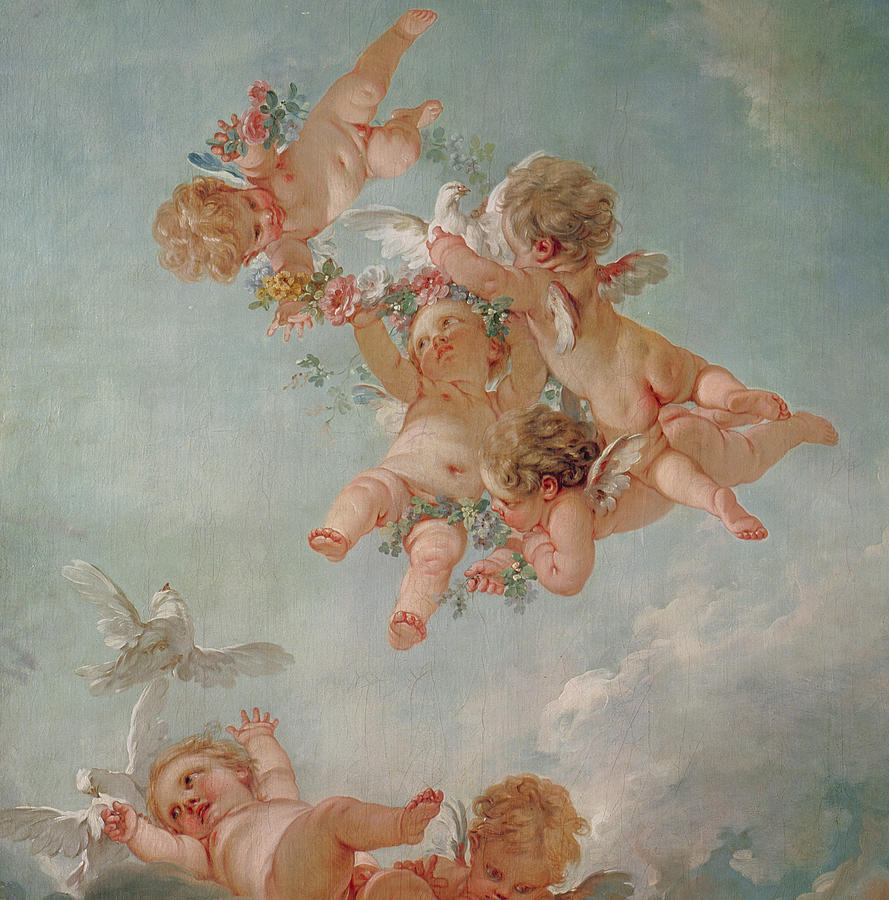 Spring Painting By Francois Boucher