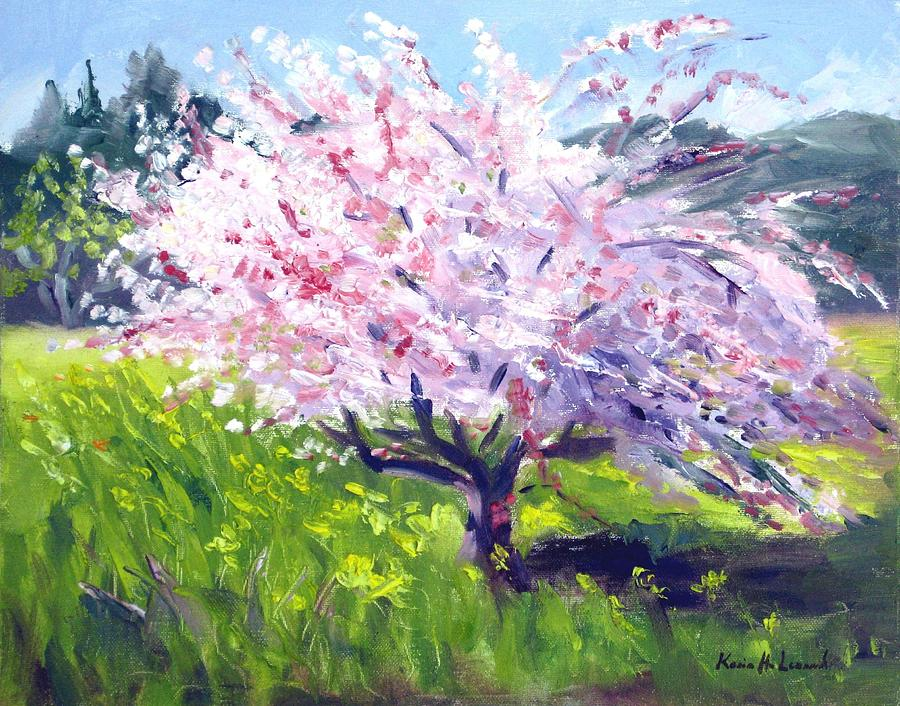 Spring Blossoms Painting - Spring Glory by Karin  Leonard