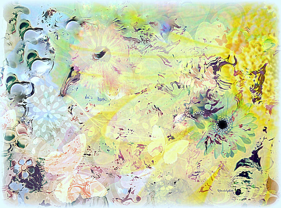 Flowers Mixed Media - Spring Happiness by YoMamaBird Rhonda