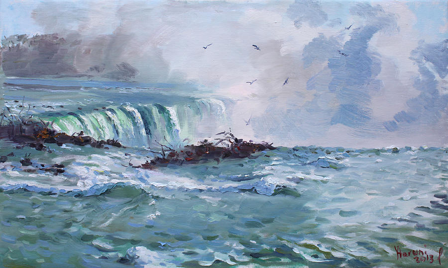 Spring In Niagara Falls Painting