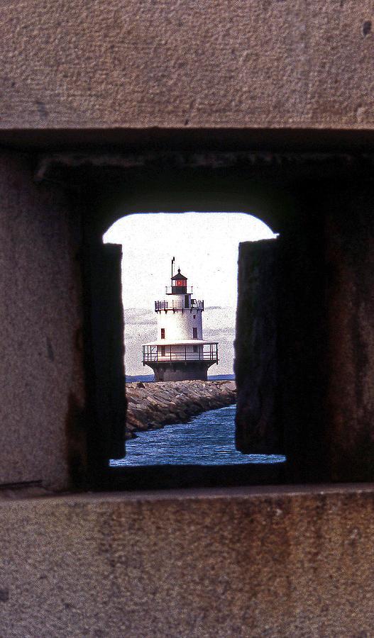 Spring Point Lighthouse Photograph - Spring Point Ledge Lightouse by Skip Willits